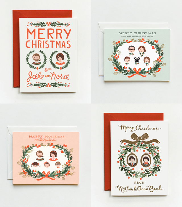 rifle paper personalized holiday cards - Personalized Holiday Cards