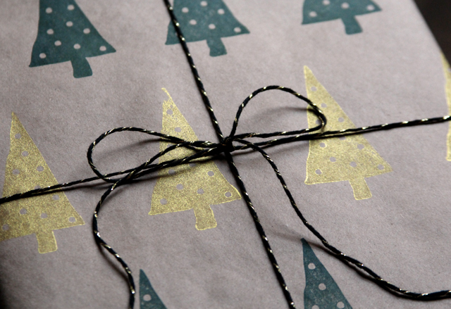 stamped wrapping paper 4